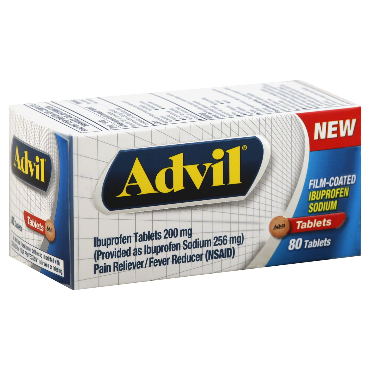 Advil Ibuprofen, 200 Mg, Film‑Coated Tablets ‑ 80 Count