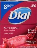 Dial Antioxidant Power Berries Cranberry Bar Soap, 2.25 oz 8 Pack