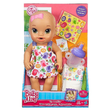 Baby Alive Sips 'n Cuddles Brunette, Modern Outfit