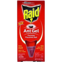 RAID ANT GEL 1 oz. Custom dispensing tube Raid ant gel precision placement bait No-touch clear gel starts working in hours and works for up to 1 month