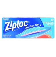 Ziploc Freezer Storage Bags, 1 qt, 19 ct