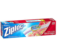 Ziploc Storage Bags, All Purpose, Double Zipper, Gallon , 20 ct