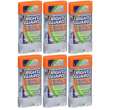 Right Guard Xtreme Defense 5 Power Gel Fresh Blast, 4 oz