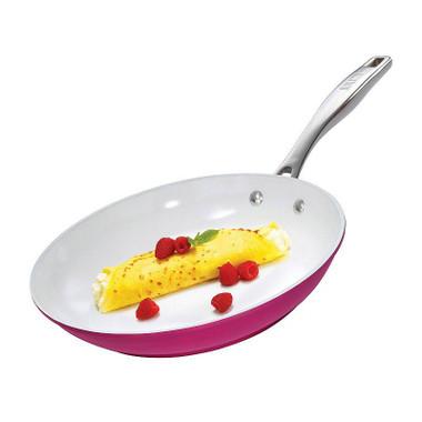 Bialetti Illuminate 10.25 Inch Open Fry Pan in Pink