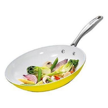 Bialetti Illuminate 10.25 Inch Open Fry Pan in Yellow