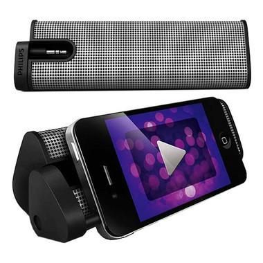 Phillips SBA1610 Portable Speaker, Wireless, Gray