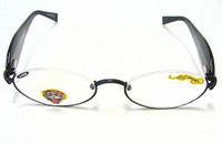 ED HARDY EHR202 Reading Eyeglasses Black +300
