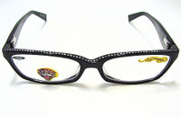 Ed Hardy Reading Glasses EHR 203 -  BLACK +300