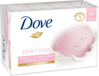 Dove Pink Rosa Beauty Bar 4 oz, 4 Bar