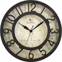 Brown Raised Crackle Time Clock
