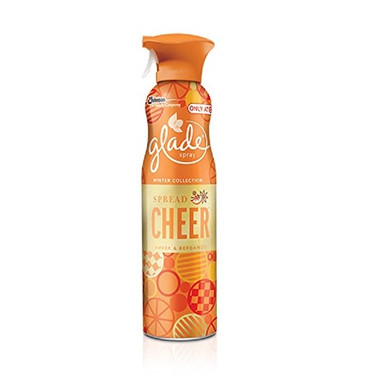Glade Spray Spread Cheer Amber & Bergamot air freshener 9.7 oz