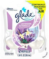 Glade, Plug Ins Scented Oil Refill, Lavender & Vanilla - 2 ea