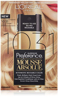L'Oreal Pref Mousse Reusable Color, Lightest Golden Blonde 1031