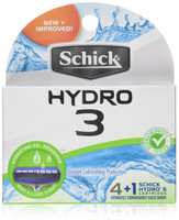 Schick Hydro 3 Razor Refill Cartridges, 4 count