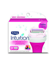 Schick Intuition Island Berry Razor Blade Refill 6 Cartridges