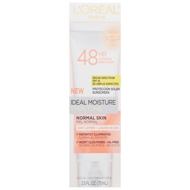 L'Oreal Paris Ideal Moisture Even Skin Tone Day Lotion, Normal Skin, 2.5
