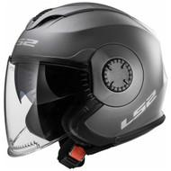 LS2 Verso OF570 Solid Open Face Motorcycle Helmet