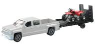 NewRay Chevy Truck w/Trailer and Honda ATV