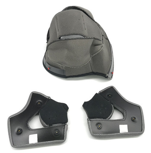 Vega RS1 Helmet Top Inner Liner Pad Gray