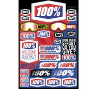 "100% Decal Sheet 8X5 1/2"""