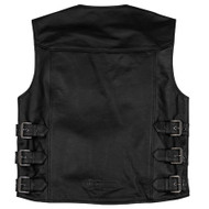 Black Brand Guardian Mens Leather Vest