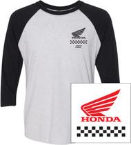 Factory Effex Honda Wing Mens 3/4 Sleeve T-Shirt