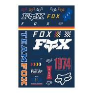 Fox Racing Murc Track Pack Sticker Sheet