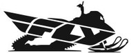 Fly Racing Fly Snow Stickers