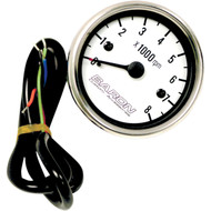 Baron Replacement Tachometer White (BA-07-670T)