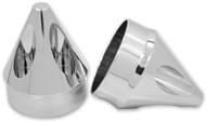 "Avon Spike 1"" Front Axle Nut Covers Chrome (AXL-SPK-CH)"