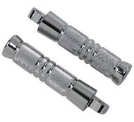 "Accutronix Knurled Footpegs 5.25"" L Chrome w/Male Mount (RP111-KGC)"