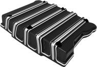 Arlen Ness 10-Gauge Billet Rocker Box Top Cover Set Black (18-253)