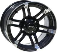 AMS Roll'n 104 Aluminum Rear Wheel 12X7 4/156 4+3 Machined Black (0230-0669)