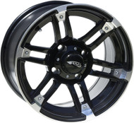 AMS Roll'n 104 Cast Aluminum Wheel R104 15X7 4/110 Machined Black (0230-0908)