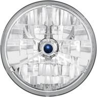 """Adjure Halogen Headlight 7"""" Diamond-Cut Trillent w/Blue Dot (T70300)"""