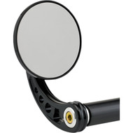 Joker Machine Bar End Mirror 3.25 Round/C Black (09-313-CB)