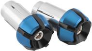 BikeMaster Two-Piece Anti-Vibration Bar Ends Black/Blue (02-0901BBU)