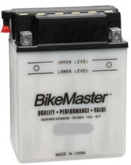 BikeMaster Conventional Battery 135 CCA 134L X 80W X 160Hmm (BB12AL-A W/ADAPTOR)