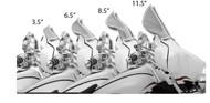 "Klock Werks Flare Windshield 3.5"" Black (KW05-01-0204)"
