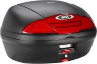 Givi Simply II Top Case Hard Luggage Matte Black w/Red Lens (E450NA)