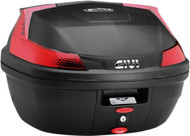 Givi Blade Top Case Hard Luggage 47L Matte Black w/Red Lens (B47NMLA)