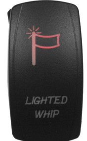 DragonFire Laser Etched Switch Lighted Whip On/Off w/Red LED (04-0073)