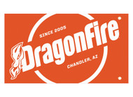 DragonFire Whip Flag w/Single Sided Print Orange Safety (04-0107)