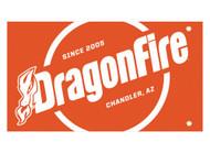 DragonFire Whip Flag w/Single Sided Print Orange Safety (04-0107)
