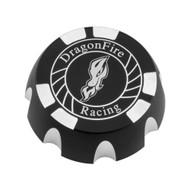 DragonFire Billet Gas Caps for Polaris UTVs Black, Racing (04-1805)