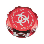 DragonFire Billet Gas Caps for Polaris UTVs Red, Biohazard (04-1802)