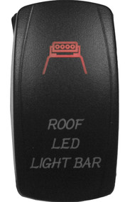 DragonFire Laser Etched Switch Roof LED On/Off w/Red LED (04-0075)
