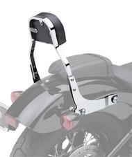 "Cobra Detachable Backrest Kit 11"" High w/Squared Pad Chrome (602-2029)"