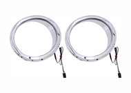 Ciro Front Speaker Accents Chrome w/LED Lights (42100)