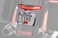 Ciro Latitude Taillight w/License Plate Holder Chrome (40053)